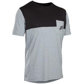 ION Seek AMP Fietsshirt korte mouwen Heren grijs/zwart